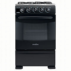 Cocina a gas 4 quemadores 63 litros negro