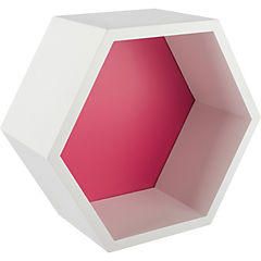 Repisa hexagono 27 x 23 x 12 cm fucsia