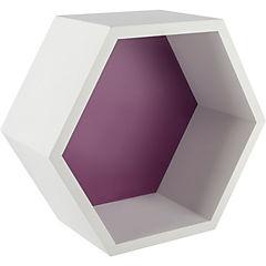 Repisa hexagono 27 x 23 x 12 cm violeta