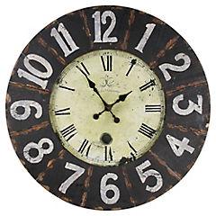 Reloj madera negro 80 cm