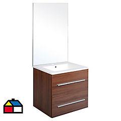 Kit mueble wenge con espejo