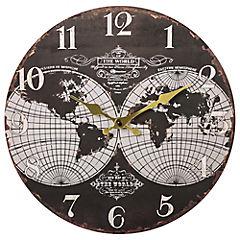 Reloj mapa mundi 34 cm