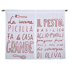 Cortina para cocina Italiana 70x115 cm rojo