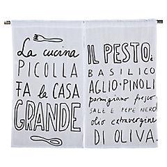 Cortina para cocina Italiana 70x115 cm negro