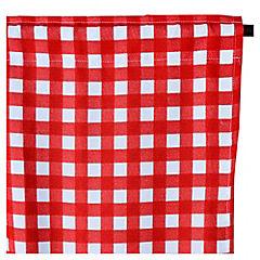 Cortina para cocina rojo 2 paños 70 x 115
