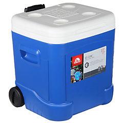 Nevera rígida con tirador 2 ruedas 57 litros azul