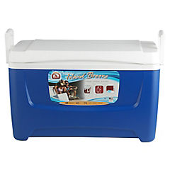 Nevera rígida con manillas 45 litros azul