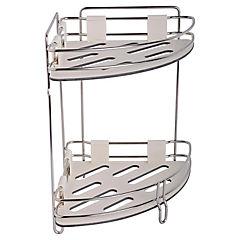 Rack de baño 2 niveles metal Blanco