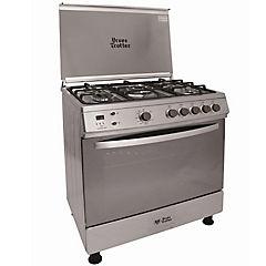 Cocina a gas 5 quemadores 104 litros plateado
