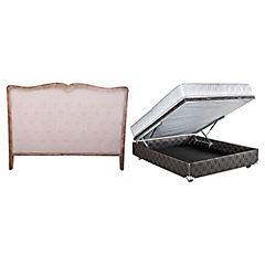 Combo boxet 2 plazas con almohada + respaldo