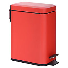 Basurero con pedal 6 litros Rojo