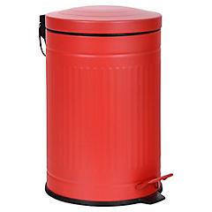 Basurero con pedal 12 litros Rojo