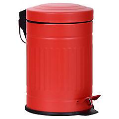 Basurero con pedal 3 litros Rojo