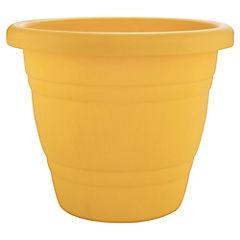 Macetero plástico 28 cm amarillo