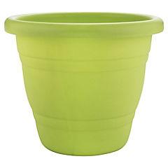 Macetero plástico 28 cm verde