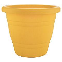 Macetero plástico 35 cm amarillo