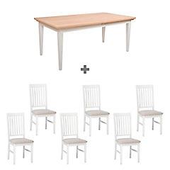Juego de comedor Paris extensible 6 sillas