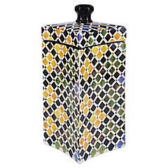 Caja cerámica puntas colores 40 cm