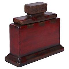 Jarrón 21 cm cerámica rojo