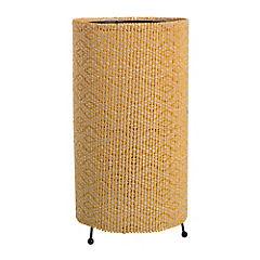 Lámpara de mesa cilindro bambú 1 luz