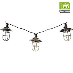 Guirnalda eléctrica LED 10 luces Negro