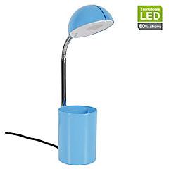 Lámpara de escritorio led Tokio azul 3W