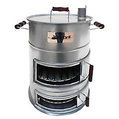 Ahumador a carbón acero galvanizado