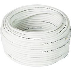 Cable telefónico 1 par blanco 25 m