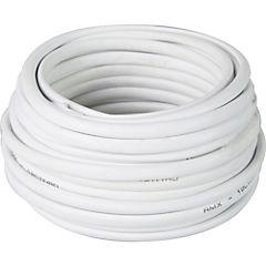 Cable telefónico 2 pares 24 AWG 10 m Blanco