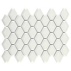Malla 30x30 cm rombo blanco
