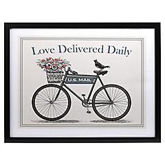 Cuadro bici love 40x50 cm