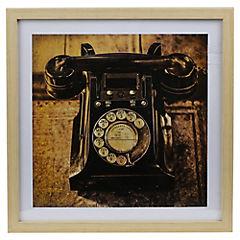 Cuadro teléfono antiguo 40x40 cm