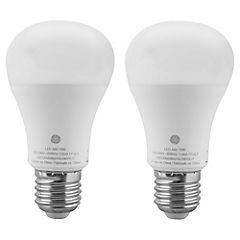 Pack 2 led 10W/60W luz cálida E27