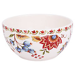 Bowl cereal floral 15x8 cm