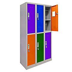Lockers de oficina OL3-02 candado colores