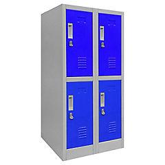 Lockers de oficina OLMN2-02 candado azul