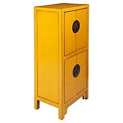 Gabinete 4 puertas 50x35x112 cm amarillo