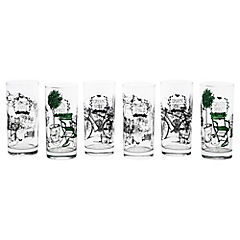 Set 6 vasos 340ml green spirit