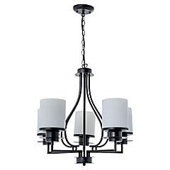 Lámpara de colgar fierro vaso 5 luces