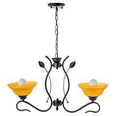 Lámpara de colgar 2 luces vidrio Nilo