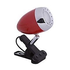 Lámpara de escritorio pinza rojo led 5W