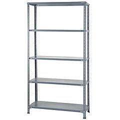 Estante metálico gris 40x100x200cm 100kg