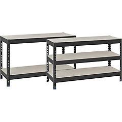 Estante metálico stabil 120x50x200cm gris