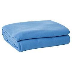 Frazada polar 2 plazas 195x220 cm azul
