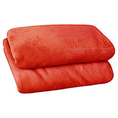 Frazada coral 1.5 plaza 160x210 cm roja