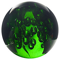 Esfera vidrio 9 cm verde