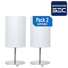 Pack 2 Lámpara de mesa metal Niza E27