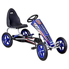 Auto go kart a pedales grande azul