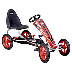 Auto go kart a pedales grande rojo