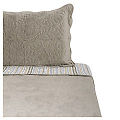 Quilt Velvet gris 1,5 plazas